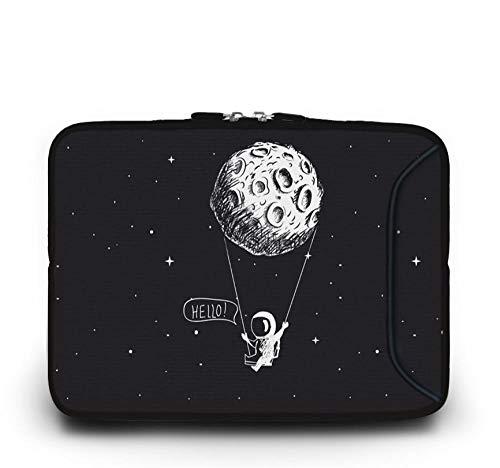 Yinghao Tragbare Laptoptasche für MacBook 10 11 6 13 3 14 4 15 4 15 6 17 17 3 Zoll Netbook Reißverschluss Hülle Tablet Cover Computer Taschen@Schwarzer Mond_17 Zoll