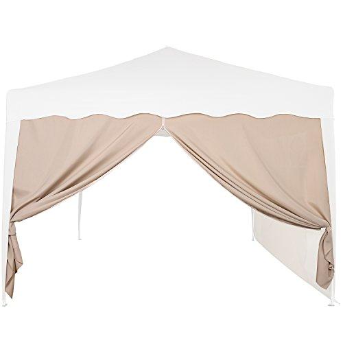 INSTENT® Basic Seitenwand/Seitenteil für Pavillon 3x3m mit Fenster oder Reißverschluss, wasserabweisend und atmungsaktiv, Farbwahl, für Festzelt, Partyzelt