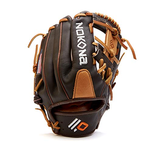 Nokona S-200I Handcrafted Alpha Baseball Glove - I-Web for Infield and Outfield Positions, Youth Age 14 and Under 11.25 Inch Mitt, Made in The USA