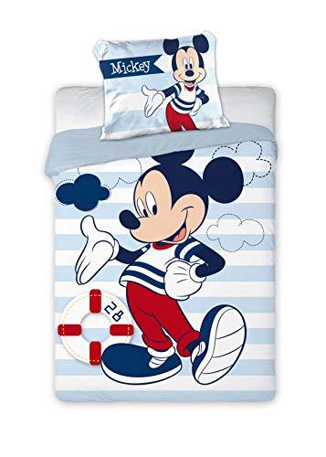 Disney Mickey Mouse 076 - Juego de Ropa de Cama Infantil (100 x 135 cm y 40 x 60 cm), diseño de Mickey Mouse