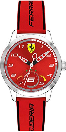 Scuderia Ferrari Orologio Analogico Quarzo Unisex Bambini con Cinturino in Silicone 860004
