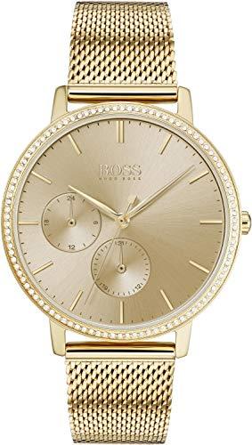 Hugo Boss multi wijzerplaat kwarts horloge met roestvrij stalen armband 1502520