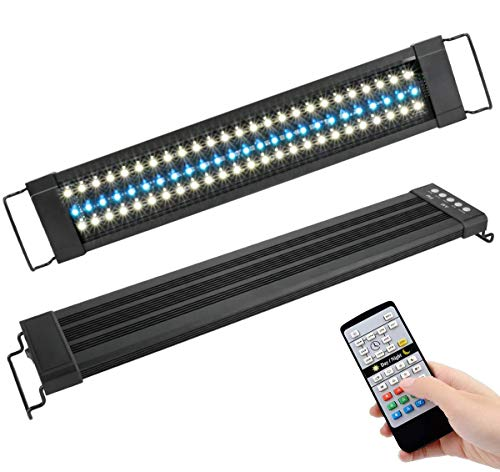 Powcan Aquarium Light 72 LED Aquarium Lighting with IR Controller Fish Tank Light with Extendable...