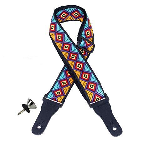 Adjustable Ukulele Strap scarf style Neck Strap Ukulele Belt with hook for small Guitar and Ukulele (mix color flower)