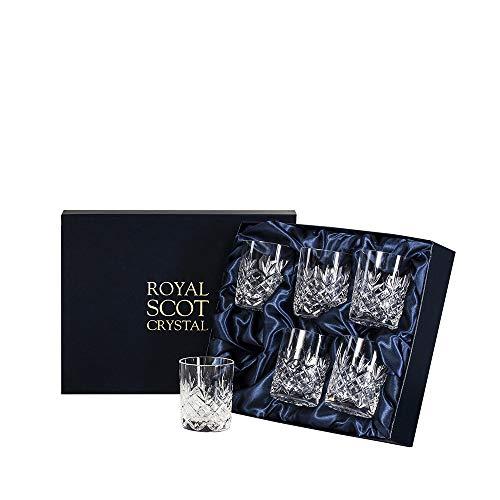 Royal Scot Crystal - Edinburgh - 6 kristallen kleine Whisky Tumblers (Presentatie Boxed)