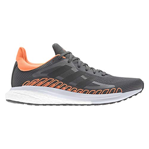 adidas Solar Glide ST M, Zapatillas para Correr Hombre, Grey Six/Core Black/Screaming Orange, 47 1/3 EU