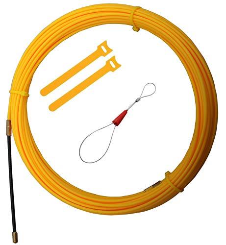 RUNCCI-YUN 15m Guia Pasacables, Kit de Enhebrado de Cables, Electricistas Alambre Threading...