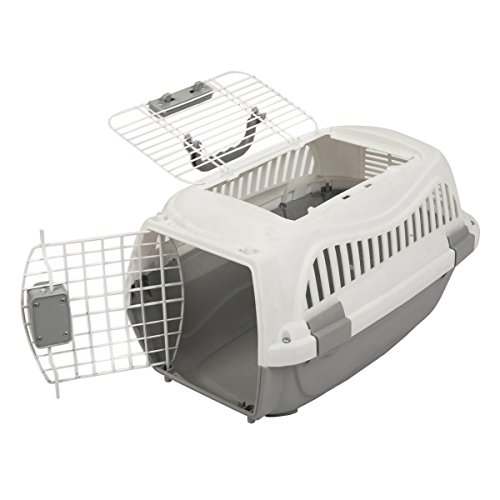 Favorite 22-Inch Portable Two Door Top Load Pet Plastic Carrier Crate for Small Animals