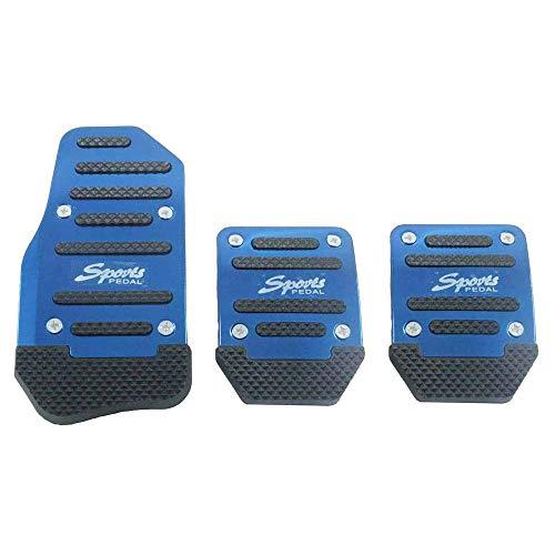 Copertura per pedali dell'auto in lega di alluminio, antiscivolo, pedale automatico (blu)