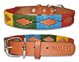 Paxleys <span class='highlight'>Handmade</span> Hand Stitched Brown <span class='highlight'>Leather</span> POLO <span class='highlight'>Dog</span> Collar, Metal Roller Buckle, Suitable For Puppy <span class='highlight'>Dog</span>s, Argentina Style Easy Adjustable Waterproof <span class='highlight'>UK</span> Designer, Rainbow (Extra Small - 20cm - 30cm)