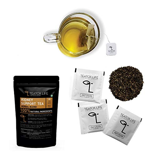 Kidney Cleanse Tea - All Natural Herbal Detox and Support for Urinary Tract, Bladder and Kidneys - Supplement Formula that Eliminate Waste & Toxins from Liver and Bladder | Caffeine free | 25 tea bags