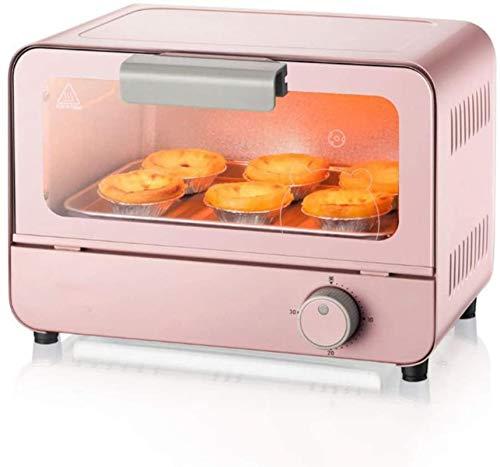 Mini horno Máquina multifuncional Máquina para hornear pequeña 6L Capacidad 30 minutos Temporizador Calentador de alimentos Cocina Herramienta de cocina Rosa