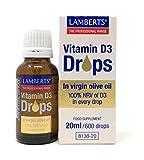 Lamberts Vitamina D3 (600 Gotas) 20 Unidades 70 g