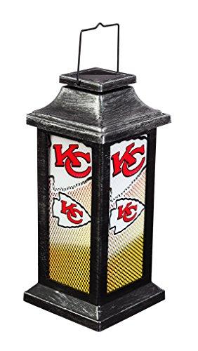Team Sports America Kansas City Chiefs Solar-Powered Outdoor Safe Hanging Garden Lantern