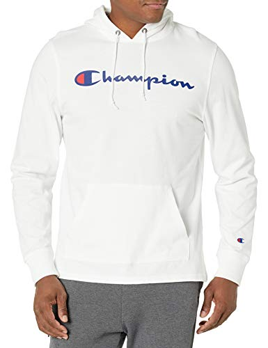 Champion Men's MIDDLEWEIGHT Hoodie, White, 2X Large