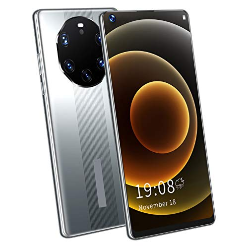 Liyong Smartphone, Práctico Teléfono De Pantalla Grande De 2 + 16 GB para Dispositivo Espacial para Personas Mayores para Llamadas Telefónicas(Gris)