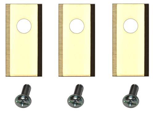 Genisys 30 Titan Ersatz Messer Klingen kompatibel für Worx Landroid ® (1-Loch HQ 2019 - longlife - 1,0 mm) + Schrauben [DIN EN 50636 geprüft]
