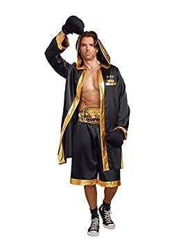 Dreamgirl Men s World Champion Costume Black/Gold Large