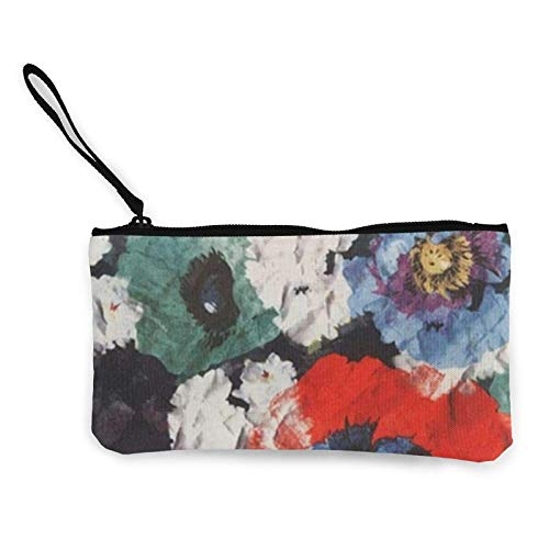 XCNGG Bright Flowers Canvas Coin Purse with Zipper Coin Wallet Multi-Function Small Purse Cosmetic Bags for Women Men