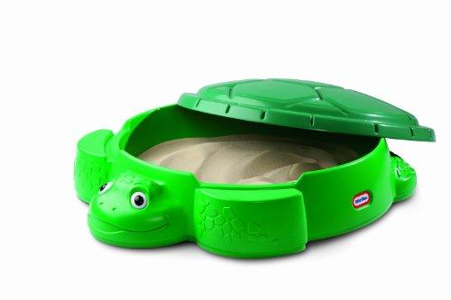 Little Tikes Bac à sable tortue pour les jeux d'été en extérieur sécurisés & mobiles, piscine & boîte de rangement. Encourage les jeux créatifs. Pour les enfants de 12 mois et +