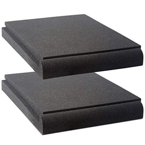 Studio Monitor Isolation Pads by Vocalbeat - Suitable for 6.5' - 8' inch Speakers - High-Density Acoustic Foam for Significant Sound Improvement - Prevent Vibrations and Fits most Stands - 2 Pads