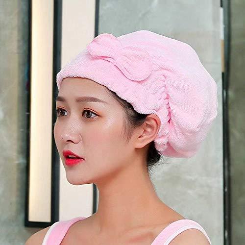 HSIYE,Toalla de Mano,Albornoz para Mujer Toalla de baño usable Toallas de Fibra extrafina Toalla Elegante Suave y Absorbente para el baño del Hotel de otoño en casa, Sombrero Rosa 2, M