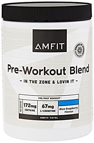 Marca Amazon - Amfit Nutrition Pre-entreno, Sabor Frambuesa Azul, 360g