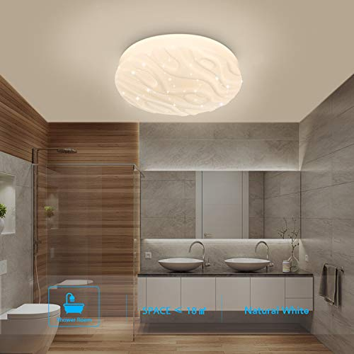 Luz de techo LED Baño Cocina Dormitorio Lámpara Techo LED Sala de estar...