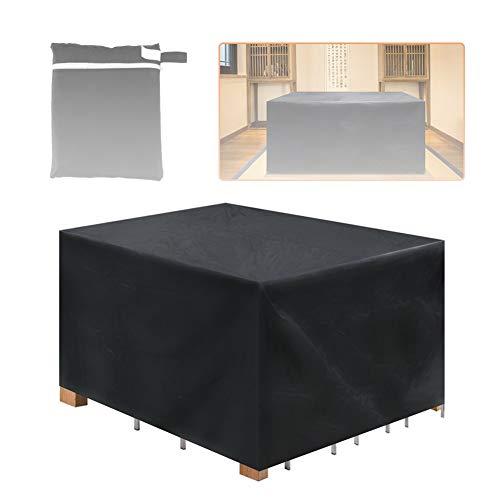 GFSD Cubiertas for Muebles de Patio Servicio Pesado Resistente Al Agua Se Descolora/Mancha/Resistente A Los Rayos UV for La Mesa Al Aire Libre Y Protección Silla,