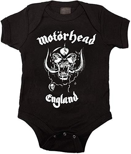 ngmaoyouxis Combinaison bébé Bodyhead England Onesie Unisexe, Noir, 18 Mois