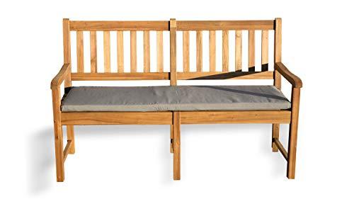 GRASEKAMP kwaliteit sinds 1972 tuinbank Corsika 150 cm acacia natuur met kussen grijs houten bank