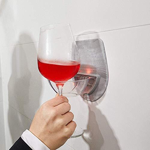 Watt Plastic Wine Glass Holder for The Bath Shower Red Wine Glass Holder, Barware, Shipping from The US (Gray)