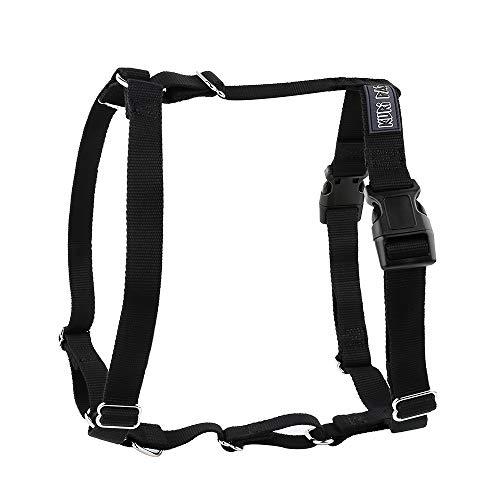 KURI PAI® Hundegeschirr, schwarz, Größe XL, H-Geschirr für große Hunde, Umweltfreundlich aus Bambus