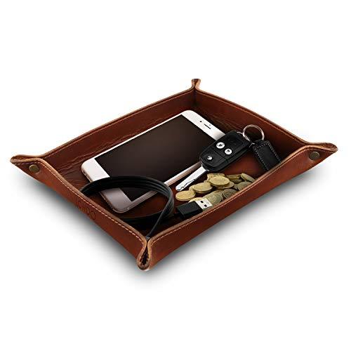 OTTO 204 Leder Londo Tablett-Organizer aus echtem Leder braun