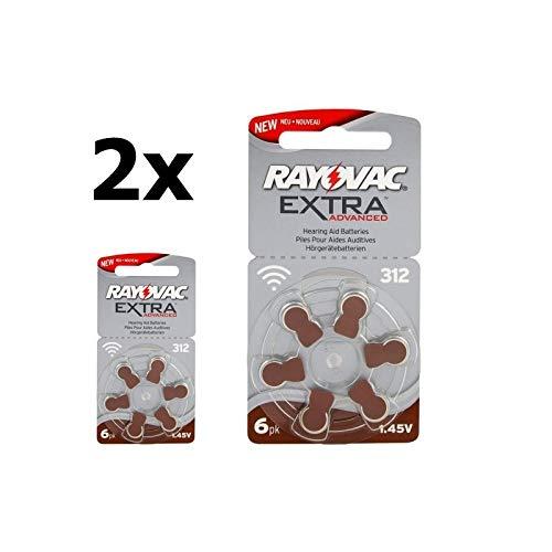 Rayovac Extra Advanced 312 / PR312 / PR41 Hörgeräte-Batterien - 2X Blisters