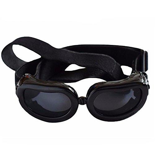 YONFAN Hunde Sonnenbrille UV Schutzbrille Hundebrille für Kleine Hunde, Welpen, Katzen, Haustier Schwarz