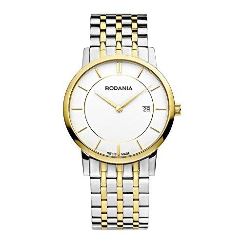 Rodania Swiss Herren-Armbanduhr Elios Analog Quarz Verschiedene Materialien RS2504580