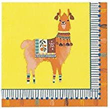 Cinco de Mayo Boho Llama Party Supplies Paper Napkins Pk 40