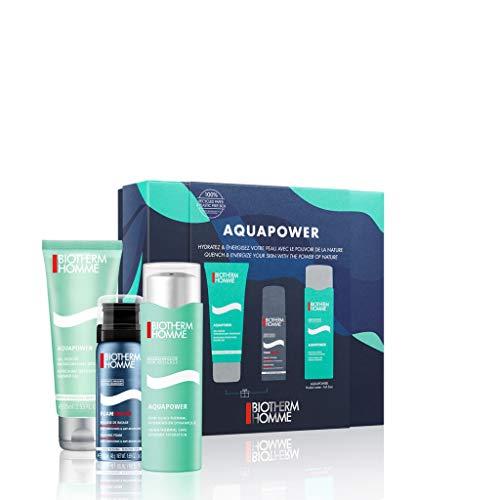 Biotherm Homme Aquapower Cofanetto Idratante (Gel Idratante 75ml+Gel Doccia 75ml+Schiuma da Barba 50ml)