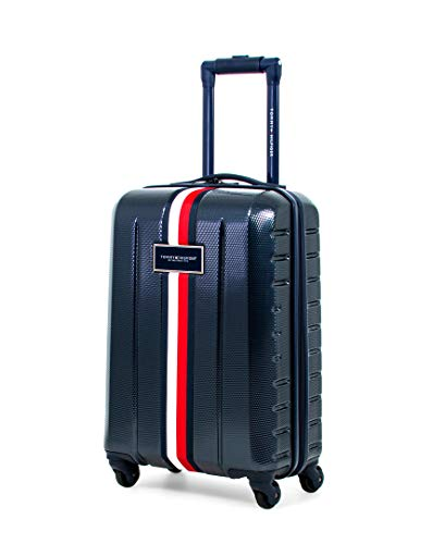 Tommy Hilfiger Riverdale Hardside Spinner Luggage, Navy, 21 Inch