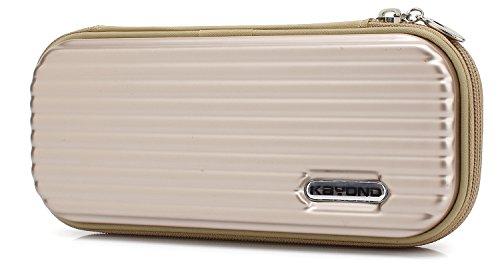 KAYOND Hartschalen-Stifteetui für Füllfederhalter, Apple Pencil, Kugelschreiber, Stylus Touch Pen gold