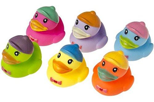 Schnooridoo 6 Badeenten Funny Duck Gummiente Ente bunt Badewanne Spielzeug Kinder Pool