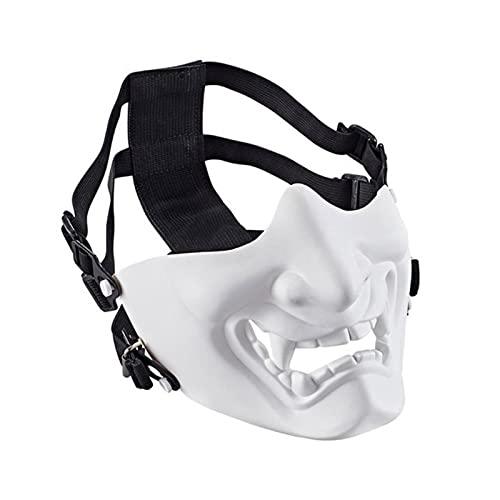 ZHOUSAN Tácticas Airsoft Máscara Halloween Cosplay Ghostface Máscara Campo Caza Equipo de Pistola de Aire Juego de Guerra CS Disparo Paintball Casco Máscara-WH