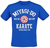 Karate Kid Miyagi-Do Camiseta Azul XL, 100% algodón, Vintage Corte Normal