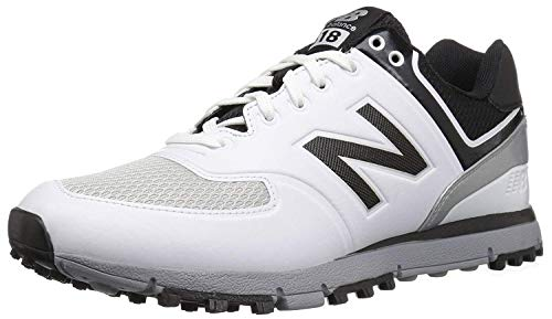 New Balance Men's nbg518 Golf Shoe, White/Black, 11.5 D US