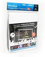 AtmosFX Window Projection Material XL, 9 Foot by 5.5 Foot Fabric Screen for Holiday Decorating on Halloween, Christmas, Birthdays, and More