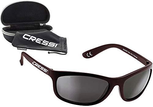 Cressi Rocker Gafas de Sol, Unisex Adulto, Negro Brillante/Lente Gris, Talla Única