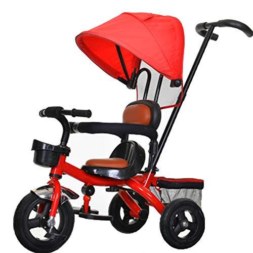 YumEIGE Driewieler voor kinderen met draaibaar zonnedak, zitje, 1-6 jaar, verjaardagscadeau, driewieler, gewicht 25 kg, kinderwagen voor jongens, peuters, trike (jongens en meisjes) verkrijgbaar  Azul Y Amarillo