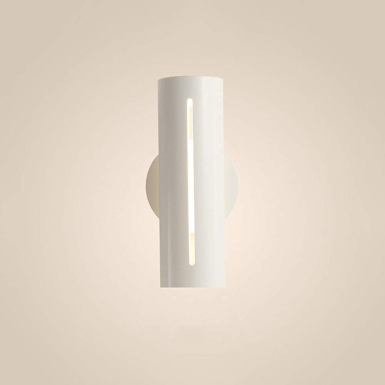 Dicai 10 Watt LED-Licht Nordic Eisen Metall Wandleuchten Schlafzimmer Nachttischlampe Gerade Durch Wandleuchte Moderne Einfachheit 110 V  240 V Schwarz Wei Farbe Wohnzimmer Wandleuchte