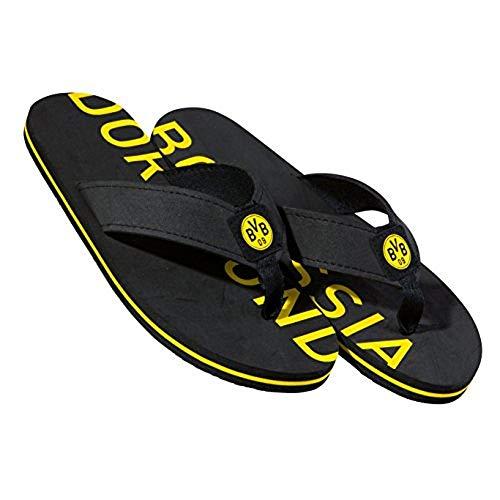Borussia Dortmund Badeschuhe/Badelatschen/Badeschlappen/Strandschuhe BVB 09 - Plus gratis Aufkleber Forever Dortmund (36/37)